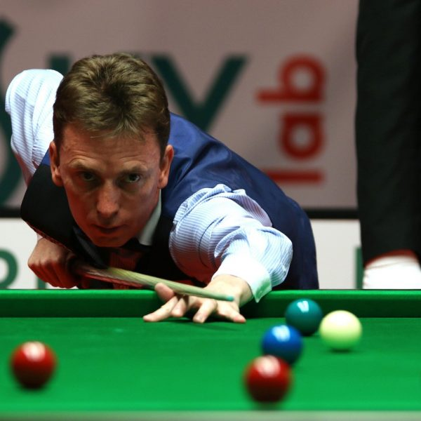 Ken Doherty plays snooker