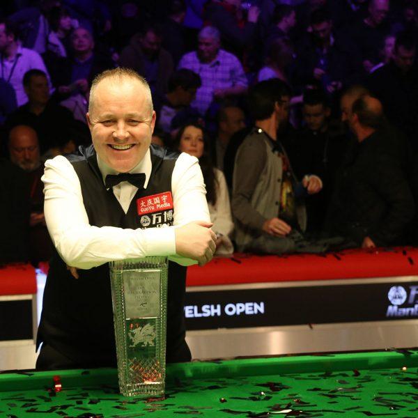 John Higgins with Welsh Open trophy