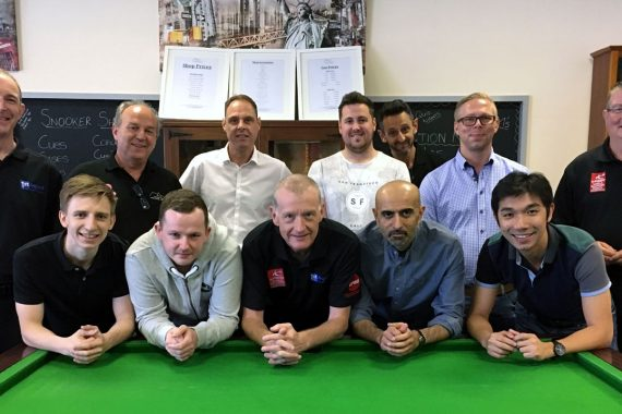 Photo of Steve Davis with coaches